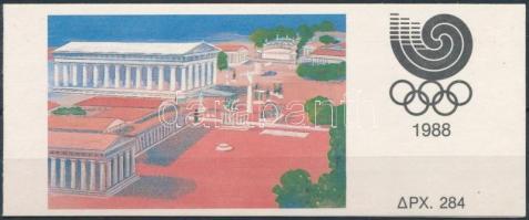 Summer Olympics, Seoul stamp-booklet Nyári Olimpia, Szöul bélyegfüzet