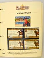 Királyi aranykártyák. Látványos telefonkártya gyűjtemény 55 db használatlan telefonkártyával. Előrenyomott, leírásokat tartalmazó albumlapokon, cerfifikáttal../ Golden Royal Cards Collection of 55 unused phone cards on pre-printed album pages with cerificate