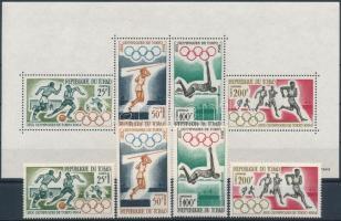 1964 Nyári Olimpia, Tokió sor Mi 120-123 + blokk 1