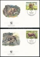 WWF Forest elephant set 4 FDC WWF: Erdei elefánt sor 4 db FDC-n