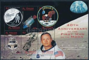 First man on the Moon mini sheet, 40 éve járt az első ember a Holdon kisív