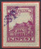 1927 Kispest forgalmi adójegy 3 sz. bélyeg 13:13 1/2 fogazással (6.000)
