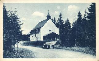 Schmölnitz, Smolnik; Vrchna kaplnka / chapel, automobile, Szomolnok, Schmölnitz, Smolnik; Mária kápolna
