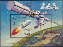 2000 Űrkutatás vágott blokk Mi 103