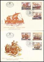 Adriatic sailing boats stamp booklet Mi set 3 FDC Adriai vitorláshajók bélyegfüzet Mi sor 3 db FDC-n