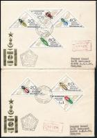 Insects set 2 FDC Rovar sor 2 db FDC-n