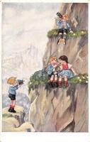 Hiking children. W.S.S.B 9269/2.