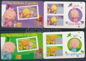Greeting Stamps 2 stamp-booklets, Üdvözlőbélyeg 2 db bélyegfüzet