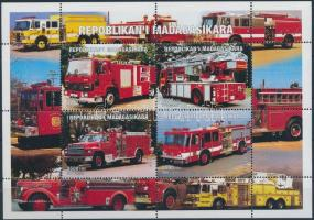 Fire service mini sheet Tűzoltóság kisív
