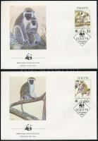 1986 WWF: Etióp majom sor Mi 184-187 4 db FDC-n