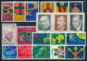 1967-1968 19 stamps, 1967-1968 19 db klf bélyeg, közte teljes sorok