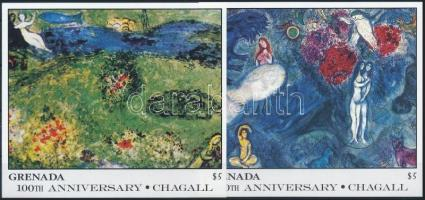 Chagall paintings 2 blocks, Chagall festmény 2 db blokk