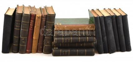 A Természettudományi közlöny 1890-1920 közötti évfolyamaiból 18 kötet bekötve aranyozott félvászon kötésbe, nagyrészt jó állapotban