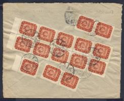 1946 21. díjszabás 5x20000 + 10x30000 milpengő távolsági levélen