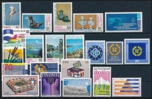 1982-1984 Europa CEPT 2 sets + 13 stamps, 1982-1984 Europa CEPT motívum 2 db sor + 13 klf önálló érték