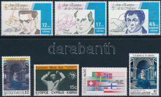1982-1985 Europa  6 sets + 10 stamps, 1982-1985 Europa  motívum  6 db sor + 10 klf önálló érték