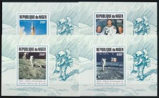 1989 20 éve járt az első ember a Holdon de lux blokksor Mi 1069-1072