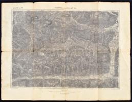 cca 1894 Kitzbühel und Zell am See, 1:75000, k.u.k. militär-geographisches Institut, 47,5×62 cm