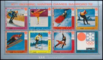 Winter Olympics: Sapporo mini sheet + block, Téli Olimpia: Szapporo kisív + blokk
