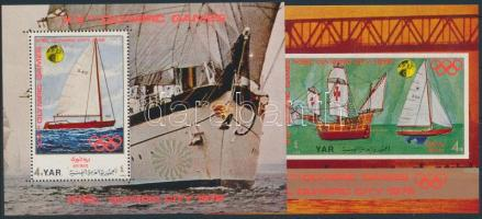 Olympic City, Kiel: Sailing mini sheet + 2 blocks Olimpiai város, Kiel: Vitorlások kisív + 2 db blokk