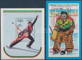 1989-1990 Winter Olympics Albertville 1992 2 blocks 1989-1990 Téli olimpia: Albertville 1992 2 db blokk