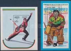 Winter Olimpics: Albertville 2 blocks Téli olimpia: Albertville 1992 2 db blokk