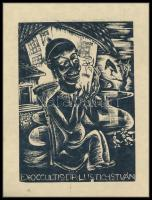 Jelzés nélkül: Ex occultis Dr. Lustig István. Fametszet, papír, 11x8 cm