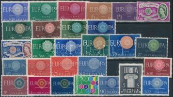 Europa CEPT 12 sets + 3 stamps, Europa CEPT motívum 12 klf sor + 3 önálló érték