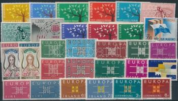 1962-1963 Europa CEPT 12 sets + 4 stamps, Europa CEPT motívum 1962-1963 12 klf sor + 4 önálló érték