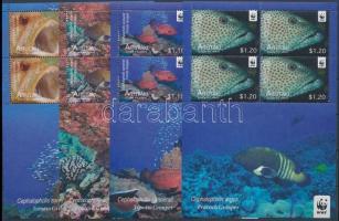 WWF: Bass species minisheet set, WWF: Sügérfélék kisívsor