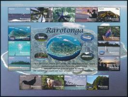 Rarotonga landscapes minisheet, Rarotonga látképek kisív