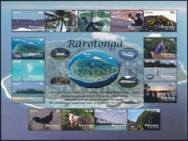 Rarotonga views mini sheet, Rarotonga látképek kisív