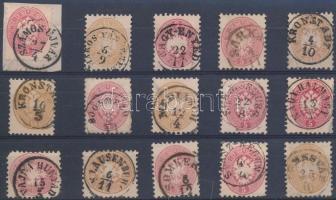 15 db bélyeg szép / olvasható bélyegzésekkel, 15 stamps with nice and readable cancellations