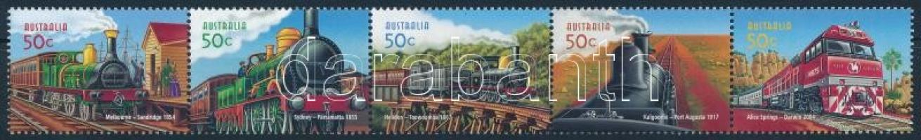 Railway stripe of 5, 150 éves a vasút ötöscsík