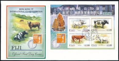 Stamp Exhibition block FDC Bélyegkiállítás blokk FDC-n