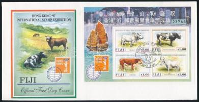 Stamp Exhibition block FDC, Bélyegkiállítás blokk FDC-n