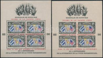 Pan American Union perforated + imperforated block Pánamerikai Unió fogazott + vágott blokk