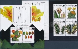 Cactus mini sheet + block, Kaktusz kisív + blokk