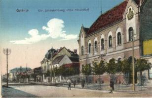 Galánta, Kir. járásbíróság, utcakép / court, street view