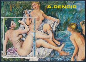 Auguste Renoir painting block, Auguste Renoir aktfestmény blokk