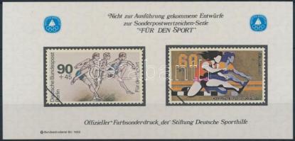 Sporthilfe memorial sheet Sporthilfe emlékív