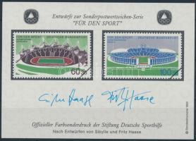 Sporthilfe memorial sheet, Sporthilfe emlékív