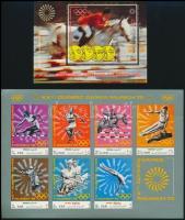 Summer Olympics, Munich mini sheet + block, Nyári olimpiai játékok, München kisív + blokk