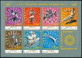 1971 Nyári olimpiai játékok, München kisív Mi 1471-1477 + blokk Mi 176