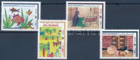 1998 A fogyatékossággal élő egyesület festménykiállítása sor Mi 593-596