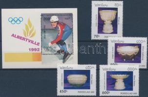1992 Olimpia Mi blokk 141 + 1995 Ezüstedények Mi 1461-1464