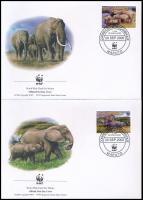 WWF African elephant set 4 FDC, WWF Afrikai elefánt sor 4 FDC-n