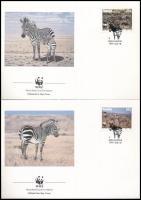 WWF: Zebra set on 4 FDCs + set WWF: Zebra sor 4 FDC-n + sor