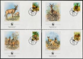 WWF Antelope set on 4 FDC-s WWF: Antilopok sor  4 db FDC-n