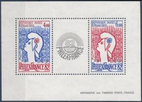 International Stamp Exhibition PHILEXFRANCE '82, Paris block Nemzetközi bélyegkiállítás PHILEXFRANCE '82, Párizs blokk